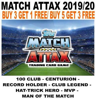 Match Attax 2019/20 19/20 Limited Edition/ 100 Club/ Centurion/ Man Of The Match