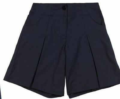NEW GIRLS EX M & S NAVY BLUE ADJUSTABLE SCHOOL CULOTTES / SHORTS Age 2-10 NC1