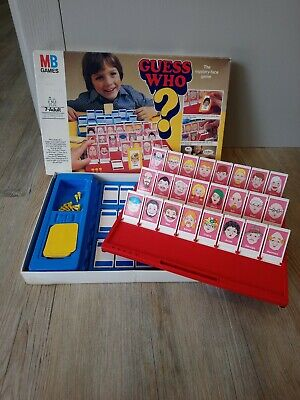 Vintage Retro 1979 Guess Who? Board Game by MB Games Complete family face fun
