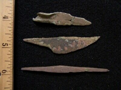 3 Authentic Old Copper Culture Artifacts From Vilas County, Wisconsin