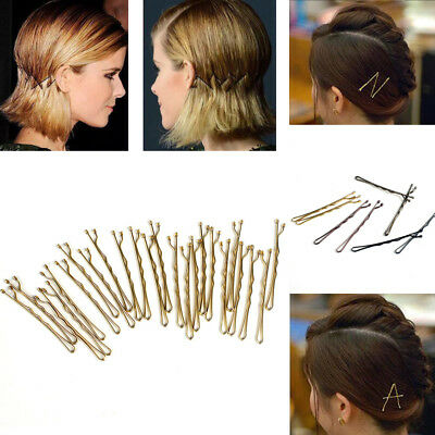 24Pcs/set Black Invisible Hair Clips Flat Top Bobby Pins Grips Salon Barrette