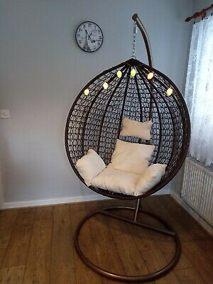 NEW Hanging Egg swing chair + FREE COVER indoor / outdoor Patio Conservatory
