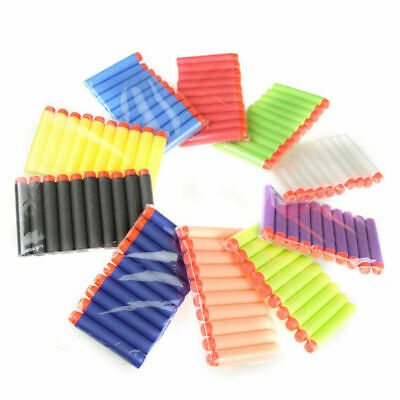 100Pcs Gun Soft Refill Bullets Darts Round Head Blasters For Nerf Toy Multicolor