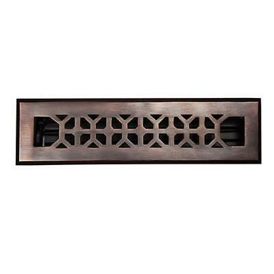 The Copper Factory Solid Cast Copper Decorative 2.25in.X 12in. Floor Register...
