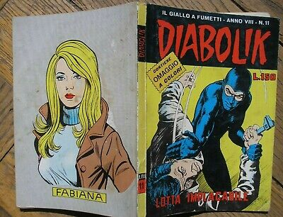 Diabolik Numero 11 Anno Viii Lotta Implacabile 1969