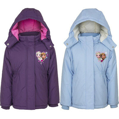 Official Licensed Disney Frozen Anna Elsa Padded Jacket / Coat 4-8yrs