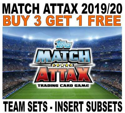 Match Attax 2019/20 19/20 - Team Sets & Insert Subsets - Champions League