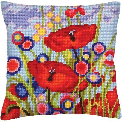 Collection D/'Art Dog /& Leaves Chunky Cross Stitch Cushion Front Kit 40x40cm