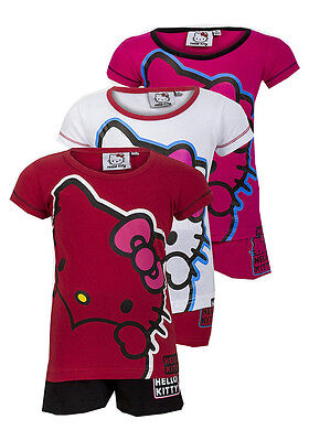 SANRIO HELLO KITTY GIRLS SHORT PYJAMAS AGES 4-12yrs