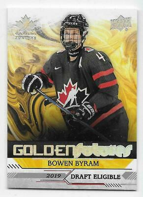 2019 UD TEAM CANADA JUNIORS HOCKEY GOLDEN FUTURES CARDS (GF-XX) U-Pick From List