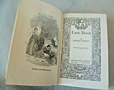 Antique Book - Little Dorrit by Charles Dickens + Phizz Odhams Press Circa 1900