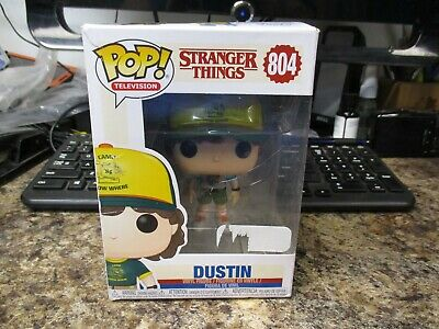 Funko Pop Television Stranger Things #804 Dustin New Figure In Damaged Box