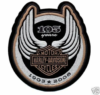Harley Davidson 105Th Anniversary Logo Patch
