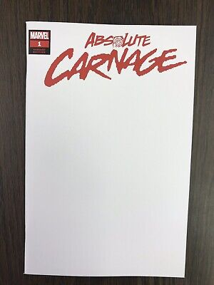 Absolute Carnage #1 (2019) Blank Variant Donny Cates Marvel Comics
