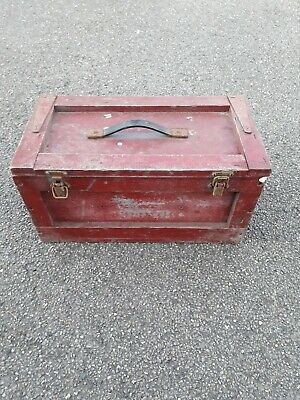 Wooden Box Army Box Tool Box Storage Box Rat Rod Box Rustic Look Box  (1001)