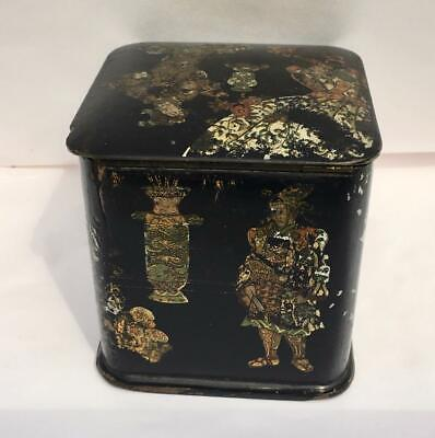 ANTIQUE 19th CENTURY CHINESE JAPANESE ORIENTAL CHINOISERIE TEA CADDY
