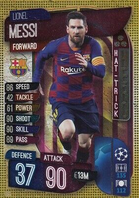 Match Attax 2019/20 19/20 #315 Lionel Messi (FC Barcelona) HAT TRICK HERO