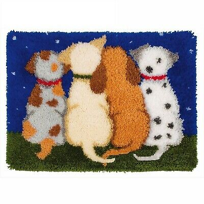 Puppy Dog Tails Latch Hook Rug Kit, Brand New