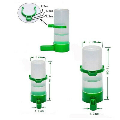 4 pc Pet Cage Aviary Bird Parrot Budgie Finches Drinker Food Feeder Waterer Clip