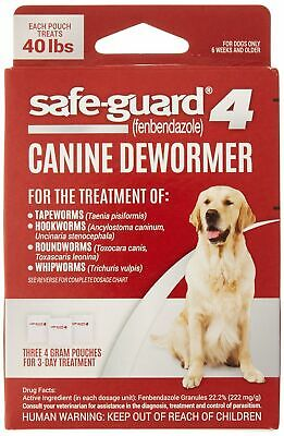 Dog Puppies Canine Dewormer Safe Guard 8in1 for Large Dogs 4-Gram Wormer Product