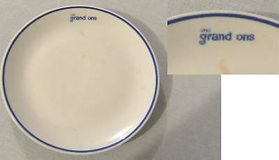 #Uu6.   Advertising Hotel Ware Plate - Grand Ons