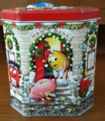 M&Ms Christmas Bank Collectible Canister Limited Edition 2003 Number 17