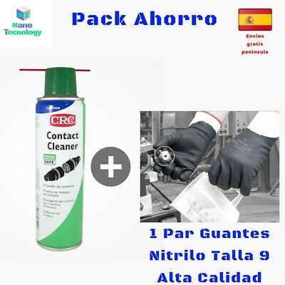 limpiador de contactos crc contact cleaner 250 Ml + guantes nitrilo talla 9 pack