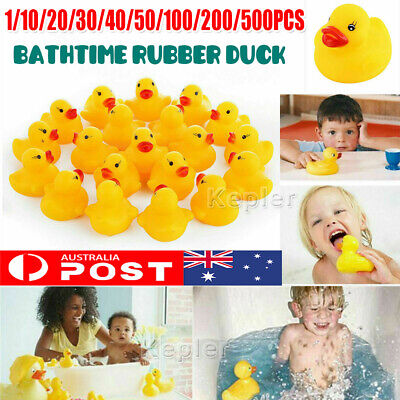 1-500 Mini Yellow Bathtime Rubber Duck Ducks Bath Toy Squeaky Water Play Toddler