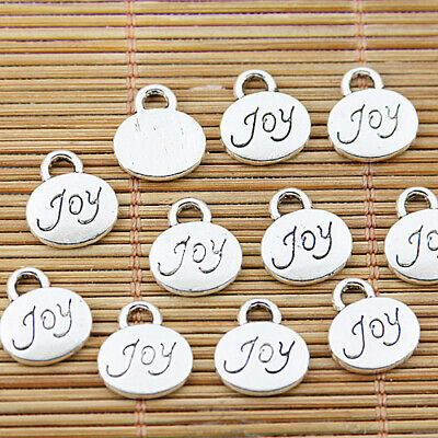 8pcs tibetan silver tone lettering words charms EF1541
