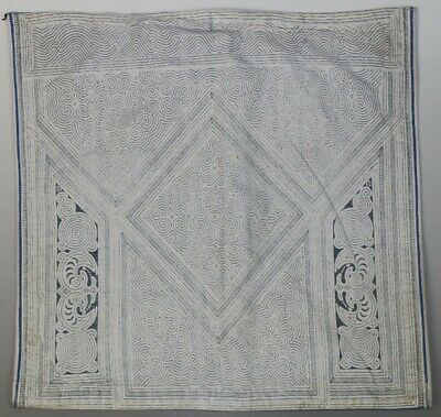 Vintage tribal exotic chinese ethnic miao gejia people's old hand batik coif