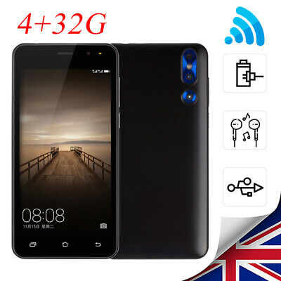 5'' 2G Smart Mobile Unlocked Phone Android 6.0 Cheap Quad Core WiFi Dual SIM New