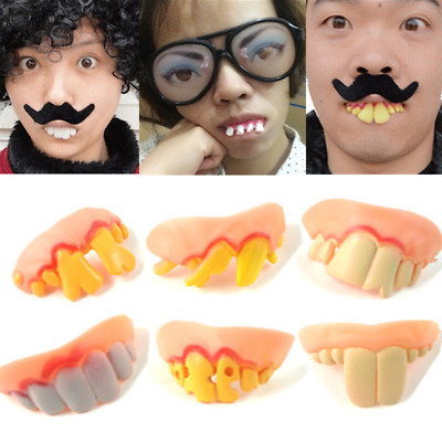 Halloween Horror Fancy Dress Dental False Fake Buck Costume Teeth Party Prop Lot