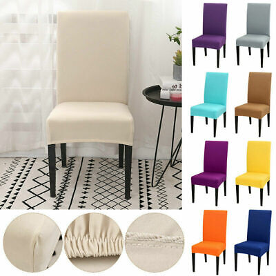 4-6PC Stretch Dining Chair Cover Removable Slipcover Washable Banquet Seat Cover