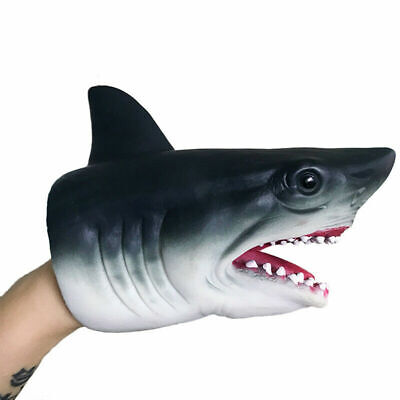 BEST Shark Hand Puppet Soft Kids Toy Gift Great For jaws Cake Topper Decora L3L4