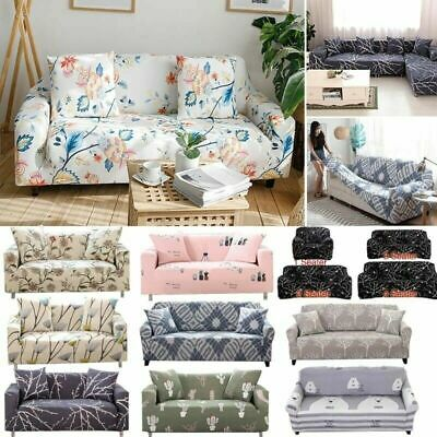 1/2/3/4 Sofa Couch Slipcover Stretch Covers Elastic Fabric Settee Protector Fit