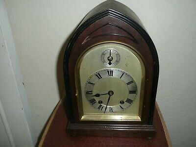 Antique, Lancet Shape, Ting Tang Mantle Clock in Very Good Condition & Working.