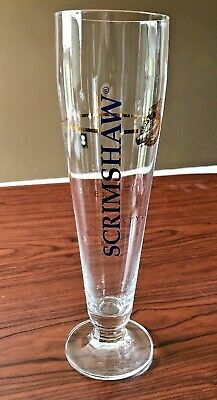 "NORTH COAST BREWING Co RARE SCRIMSHAW Pilsner Style Beer Pint 10"" Tall Glass S"