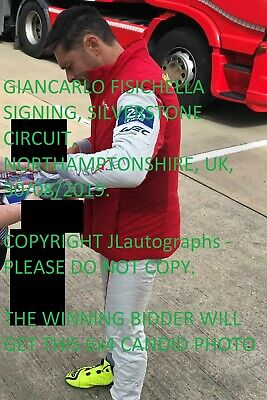 Giancarlo Fisichella Renault F1 Win Exact Proof Hand Signed Autograph 10X8 Photo