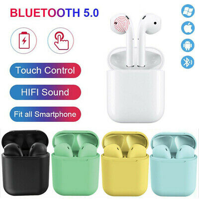 i12s Wireless Bluetooth Earbuds Touch Control Headset Sport Headphone For iPhone