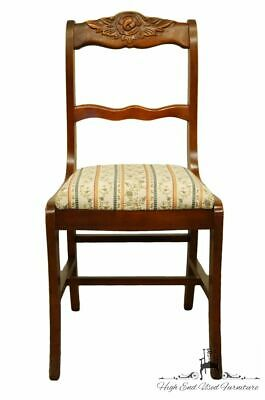 1940's Vintage Antique Duncan Phyfe Cherry Rose Back Dining / Accent Side Chair