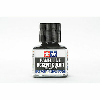 Tamiya America Inc Panel Line Accent Color 40ml Black