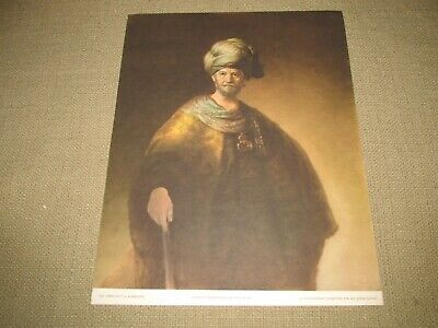 """1956 VINTAGE REMBRANDT /""""JOSEPH ACCUSED BY POTIPHAR/'S WIFE/"""" BIBLE ART LITHOGRAPH"""