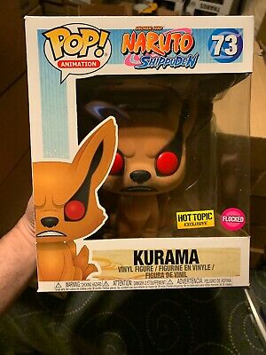 Funko Pop! Flocked Kurama Naruto Shippuden Anime Hot Topic Mint Pop 73 6 Inch