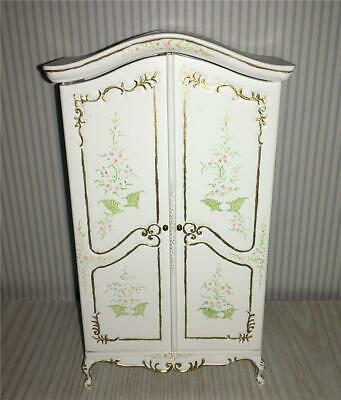Miniature Dollhouse Bespaq Notions Cabinet Carved & Hand Painted - 2822-Wt