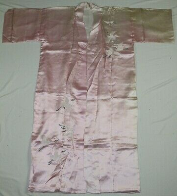 Vintage Chinese 100% Hand cranes Embroidery cloth silk gown  Robe