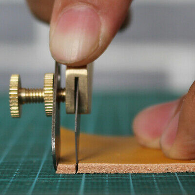 Brass Leather Positioning Cutter Copper Trimming Blade DIY Leather Craft Tool BM