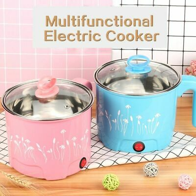 Multi-function Electric Skillet Stainless Hot Pot Noodles Rice Cooker Steamer