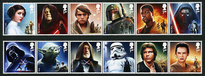 Gb 2015 Star Wars Set Of 12 Unmounted Mint Sg 3758 - 3769
