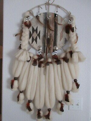 """Large 40"""" Native American Indian Dream Catcher Wall Hanging Vintage Handmade"""