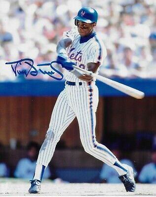 DARRYL STRAWBERRY NEW YORK METS HAND SIGNED 8x10 PHOTO AUTOGRAPHED